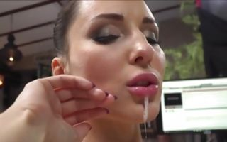 Alisha Rage nicely licking wet cunt of horny chick
